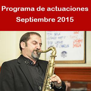 Programa Septiembre 2015